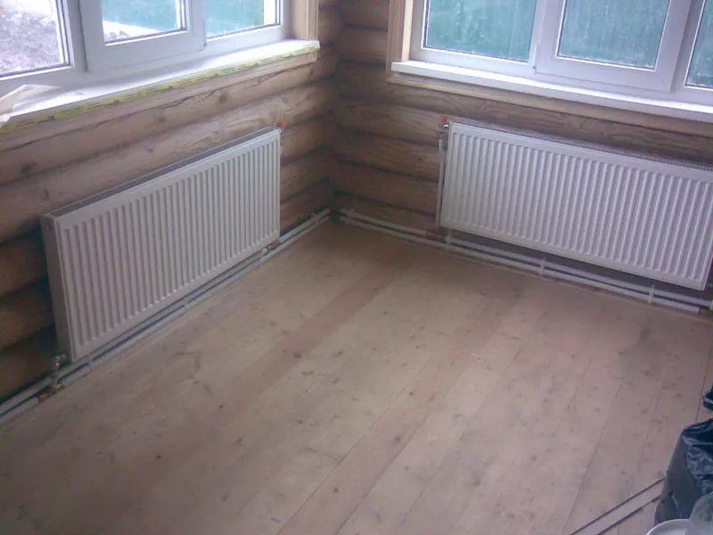 Установка стальных радиаторов отопления